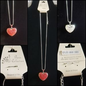 Paris Collection - Small Red Bling Heart